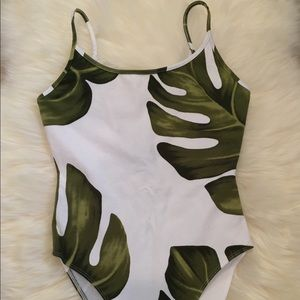 Tropical leaf bodysuit from forever 21